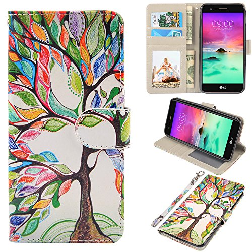 LG stylo 3 Case, UrSpeedtekLive LG stylo 3 Wallet Case, Premium PU Leather Flip Wallet Case Cover w/Card Slots & Kickstand Compatible with LG stylo 3, Love Tree