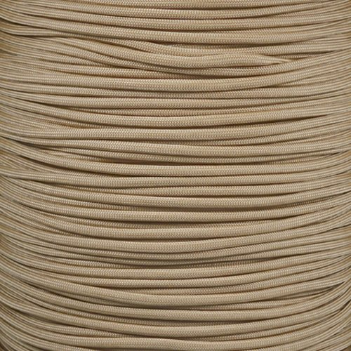 PARACORD PLANET 550 Cord Type III 7 Strand Paracord 250 Foot Spool - Tan