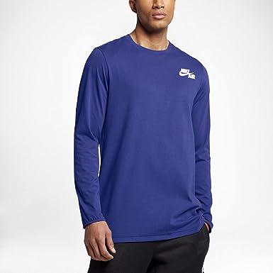 Nike M Nk Air LS Camiseta de Manga Larga de Baloncesto, Hombre ...