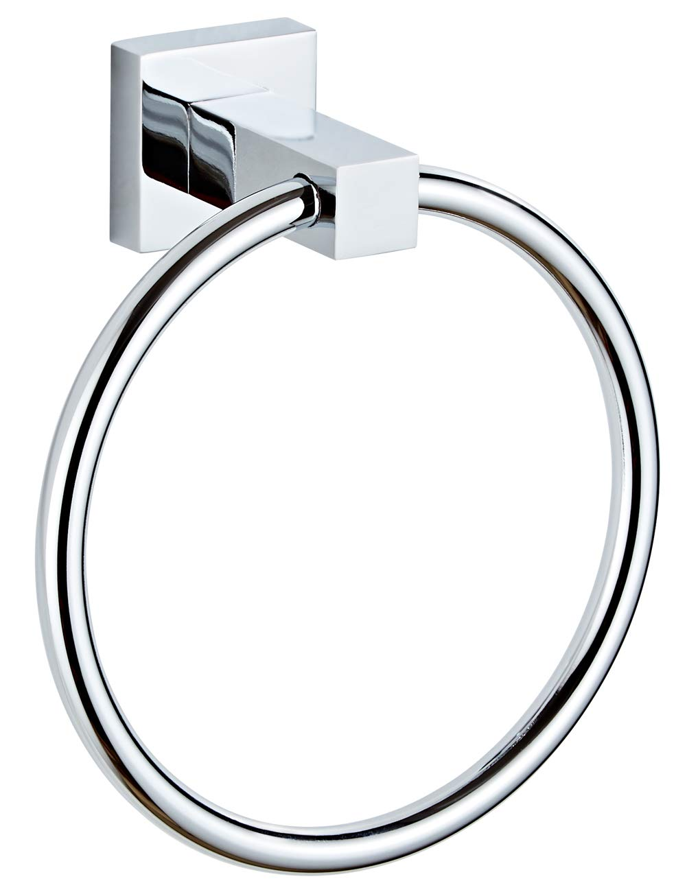 Lonffery Stainless Steel Towel Ring, Wall Mounted Hand Towel Holder for Bathroom, Washroom, Kitchen, Polished Chrome