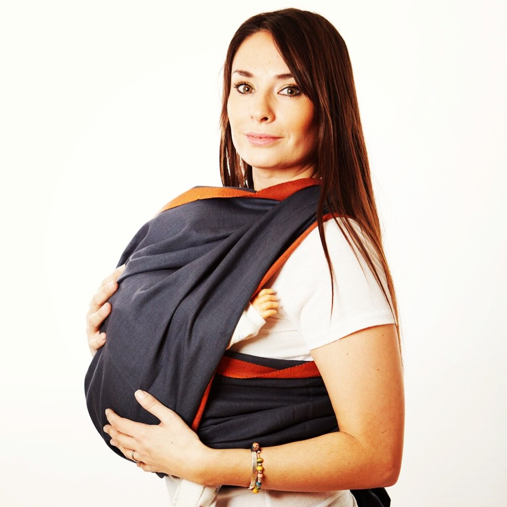 Woven Wrap Baby Carrier for Infants and Toddlers (Stone) by Hip Baby Wrap   B00SBZD21A