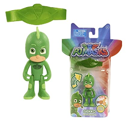 Pj Masks Gekko Light Up Figure with Amulet Bracelet New Cartoon Release