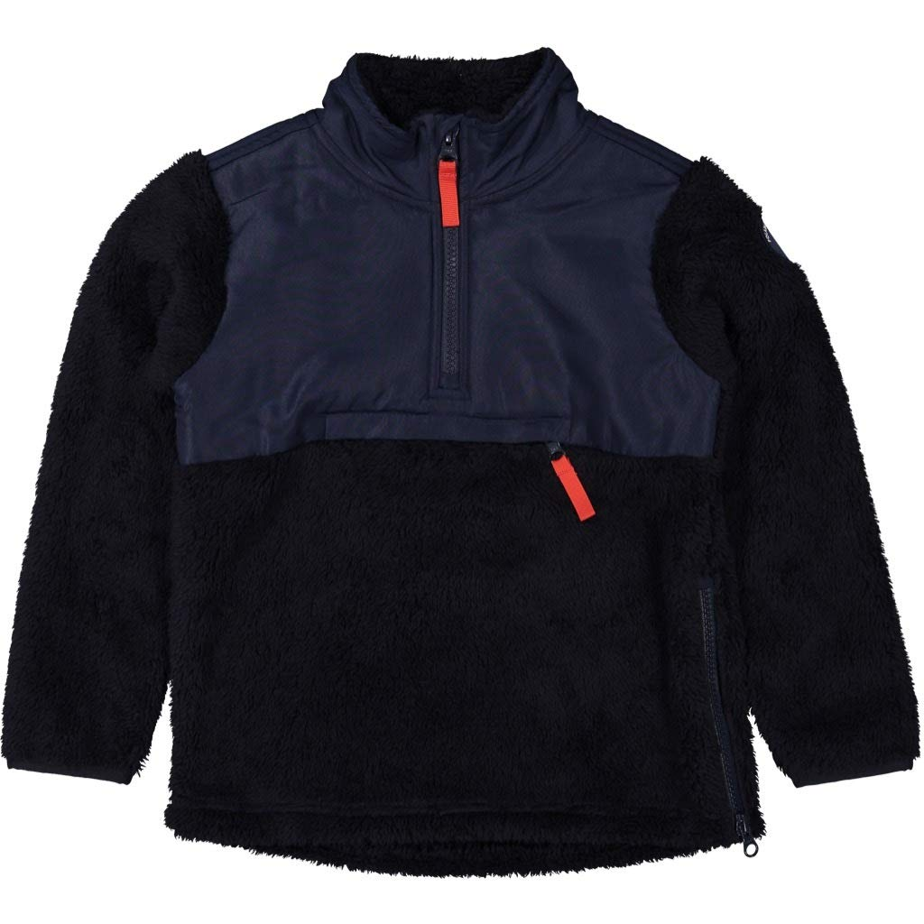 Polarn O. Pyret PO.P SKI Pile Fleece Half Zip Sweater (1-2YRS) - 1-2 Years/Dark Sapphire by Polarn O. Pyret
