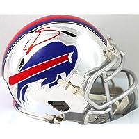 $165 » Stefon Diggs Autographed Buffalo Bills Chrome Speed Mini Helmet - Beckett W Auth Red