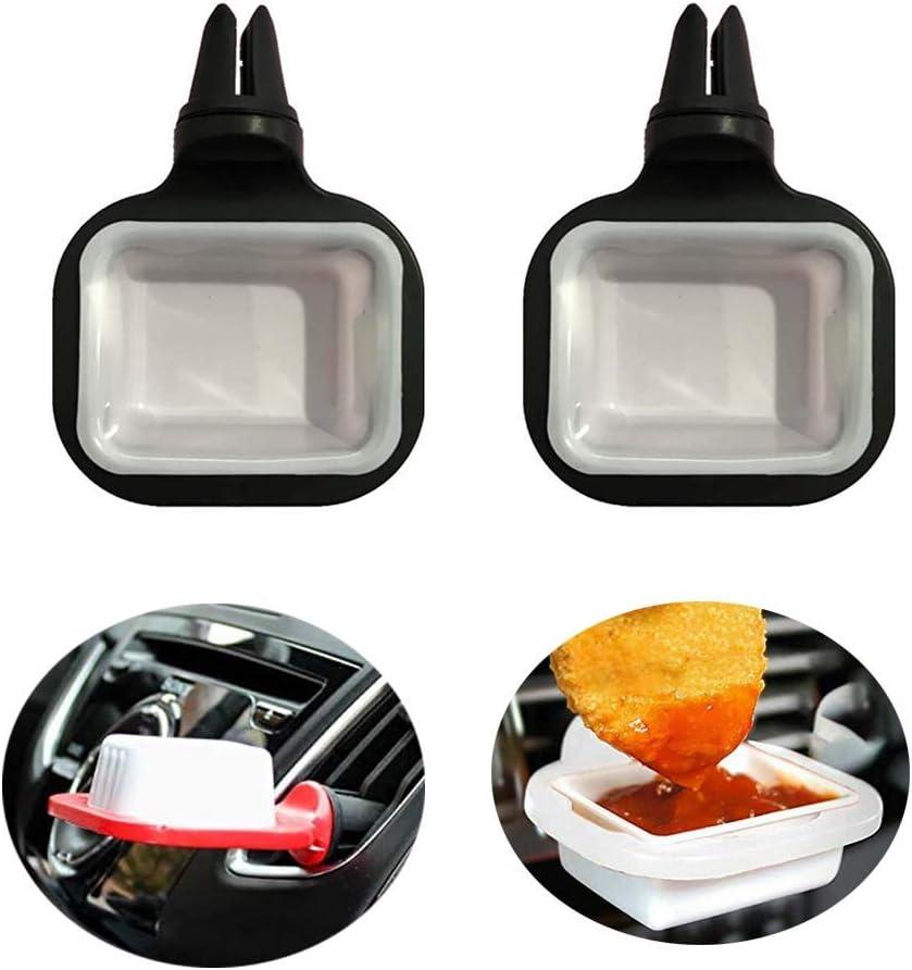 Dip Clip Auto Auto Dip Saucen Halter Für Auto Damit Sie Ihre Sauce Nicht Aus Fast Food In Ihrem Fahrzeug Auto Oder Lkw Verschütten Black Küche Haushalt