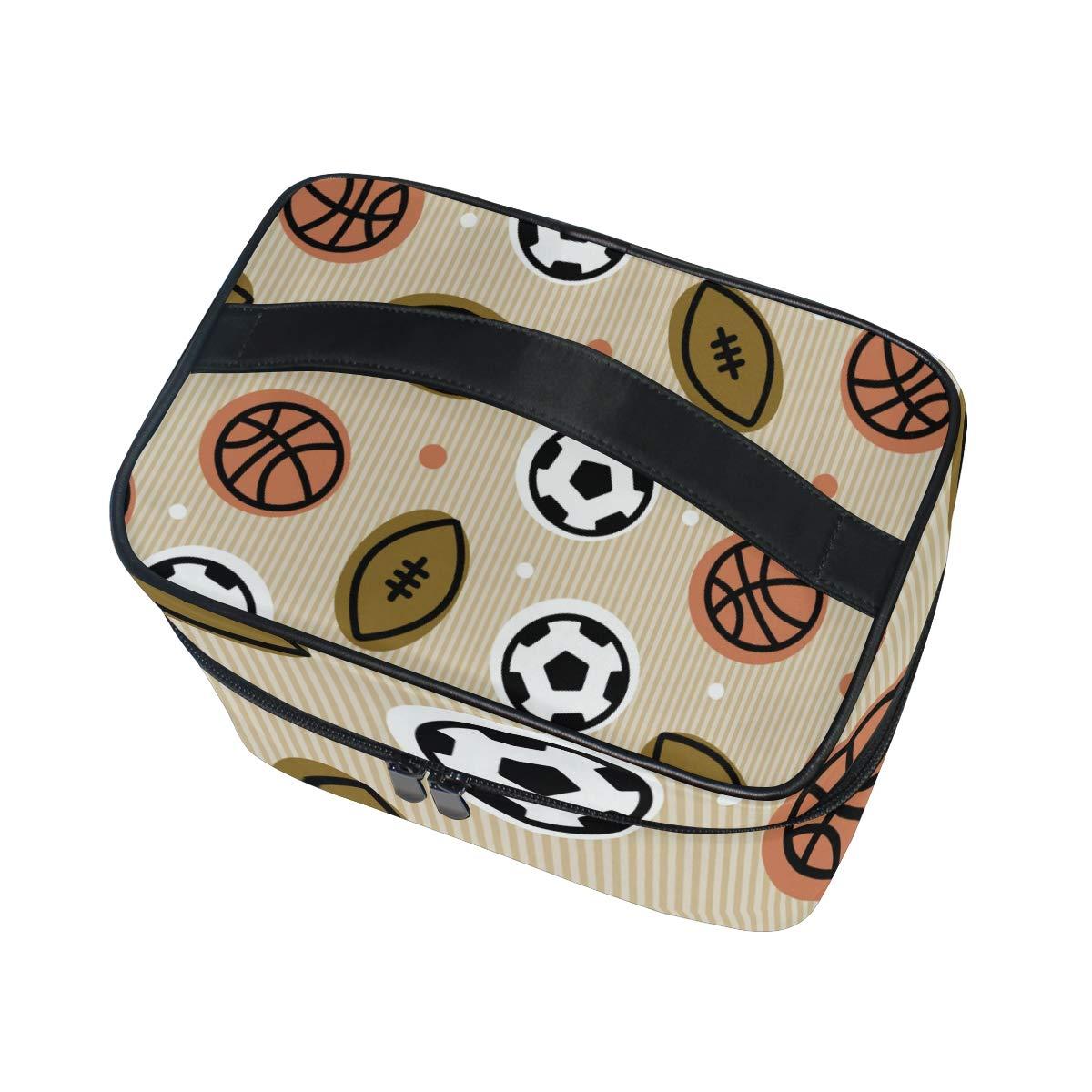 Bolsa de Maquillaje de Viaje con diseño de balón de Rugby y balón ...