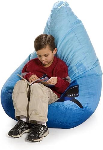 AFA, INC Big Shots Large Twill Shark Teardrop Bean Bag Chair