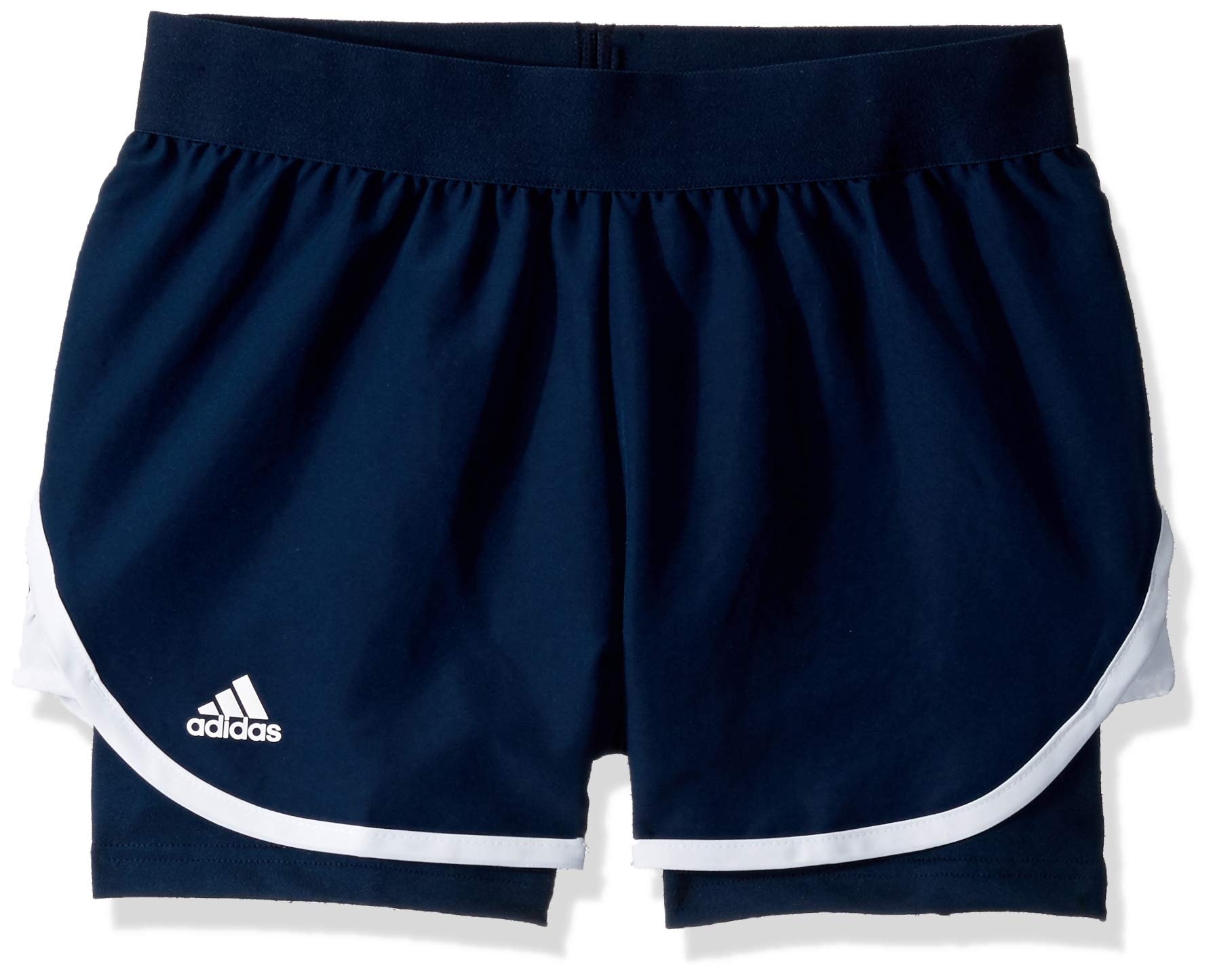 adidas Junior Girls' Club Tennis Shorts, Collegiate Navy, X-Small by adidas