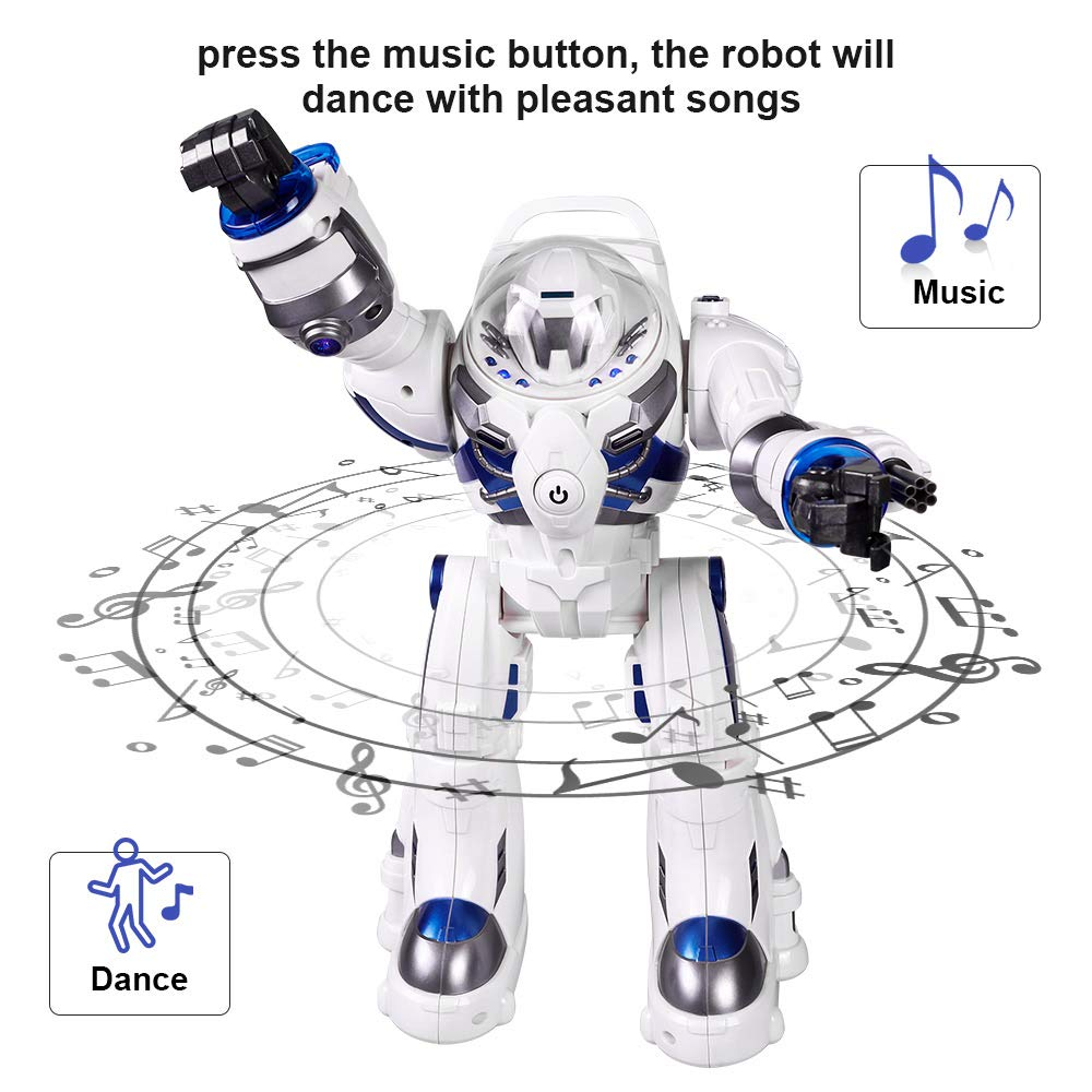 KINGBOT Robot Toy,Spaceman RC Robot Remote Control Robots Toys with Programmable Interactive Walking Singing Dancing for Kids Boys Girls Gifts by KINGBOT (Image #3)