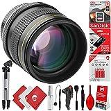 Opteka 85mm f/1.8 Manual Focus Aspherical Medium Telephoto Portrait Lens for Canon EOS 80D, 77D, 70D, 60D, 7D, 6D, 5D, 7D Mark II, T7i, T6s, T6i, T6, T5i, T5, SL1 & SL2 Digital SLR Cameras