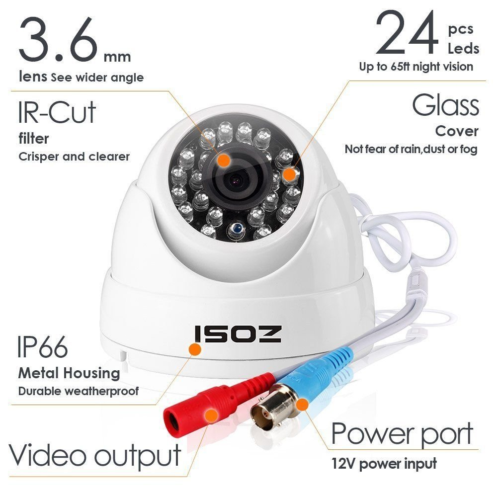 ZOSI Full HD 1080p Security Camera System, 8x 1080p HD Weatherproof Outdoor Surveillance Camera, 8CH 1080P CCTV DVR Recorder and 2TB Hard Drive, 100ft Night Vision, Customizable Motion Detection by ZOSI (Image #5)