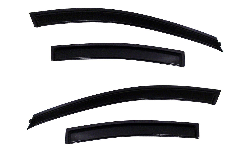 4-Piece Set for 2011-2015 Chevrolet Cruze Auto Ventshade 94611 Original Ventvisor Side Window Deflector Dark Smoke
