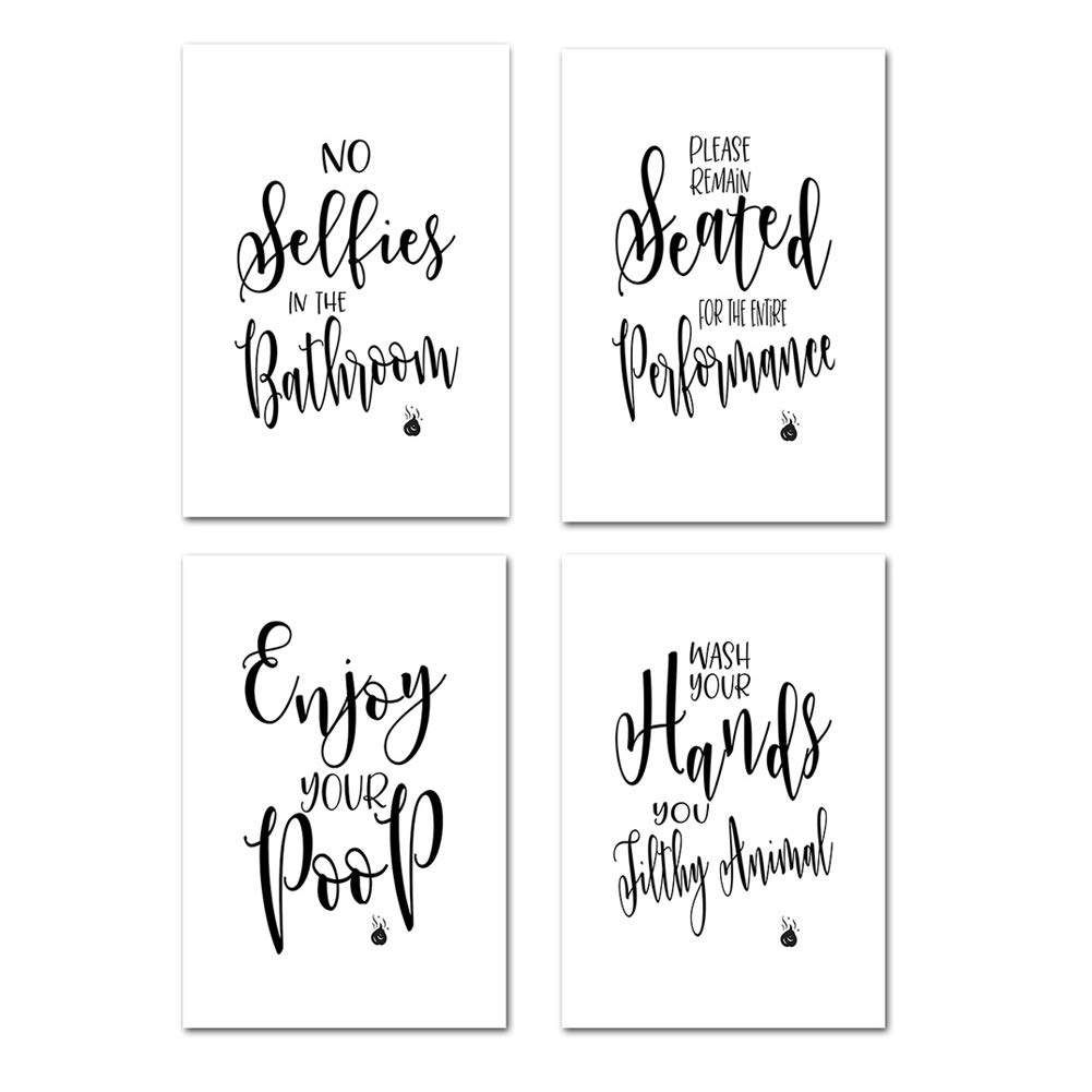 2 x print set So fresh /& so clean clean Bathroom Quote prints Get naked