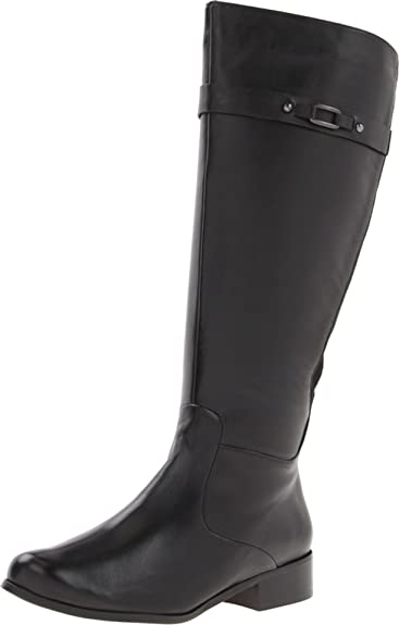 VANELi Women's Ramex Riding Boot,Black Nappa/Black Super Suede,6.5 ...