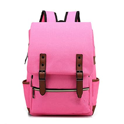 f3060cd445 Amazon.com  Fashion Vintage Laptop Backpack Women Canvas Men Travel Leisure  Retro Casual School Bags For Teenager
