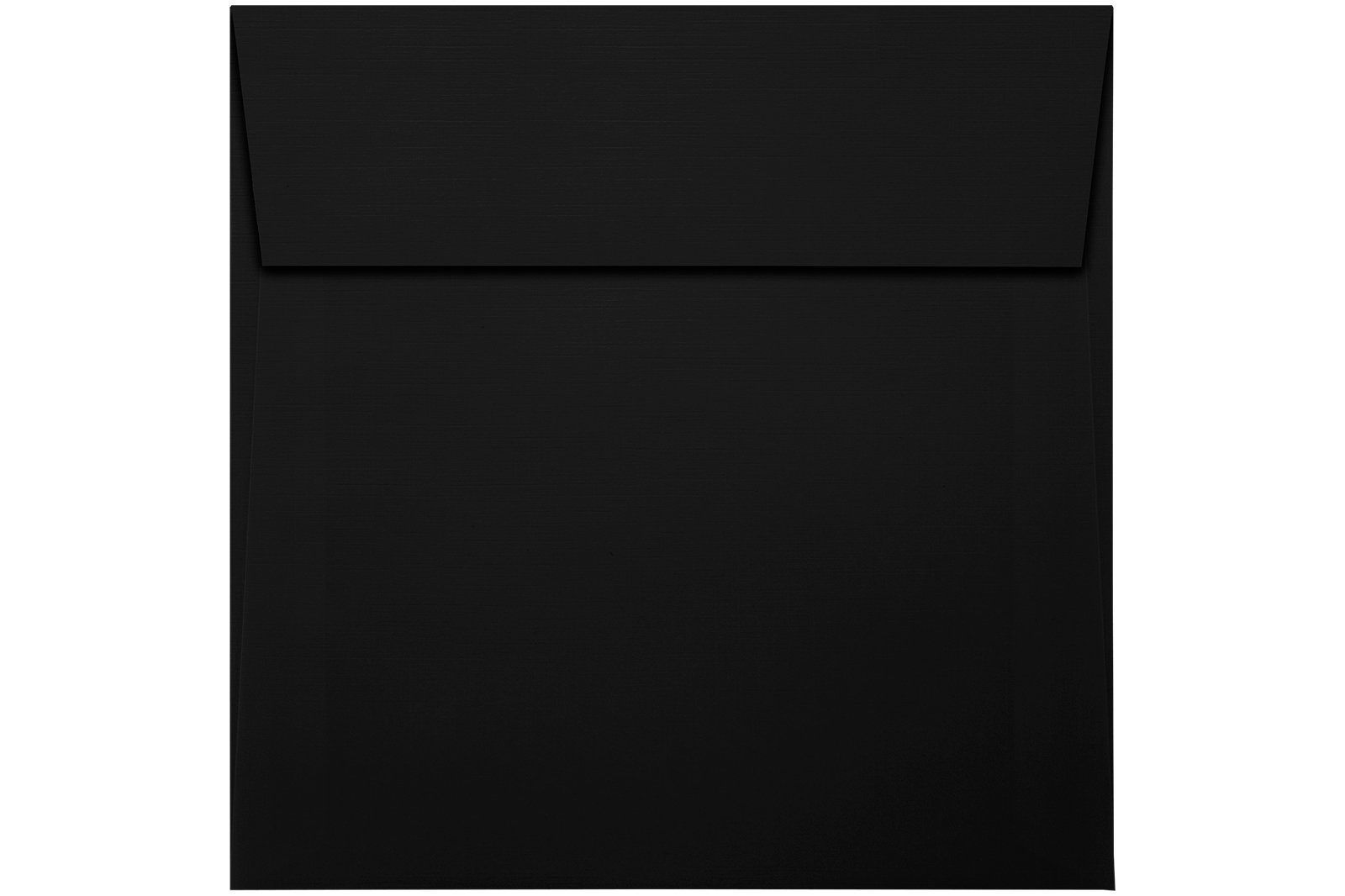5 1/2 x 5 1/2 Square Envelopes w/Peel & Press - Black Linen (50 Qty.) | Perfect For Thank You Notes, RSVPs, Greeting Cards, Weddings or any Announcement | 80lb Text Paper | 8515-BLI-50