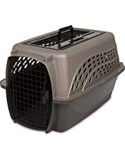 Petmate 21232 Two Door Top Load 24-Inch Pet Kennel, Metallic Pearl Tan and Coffee Ground Bottom