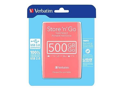 1084 opinioni per Verbatim 53170 HDD Esterno 2,50 Pollici, USB 3.0, 500 GB, Autoalimentato,