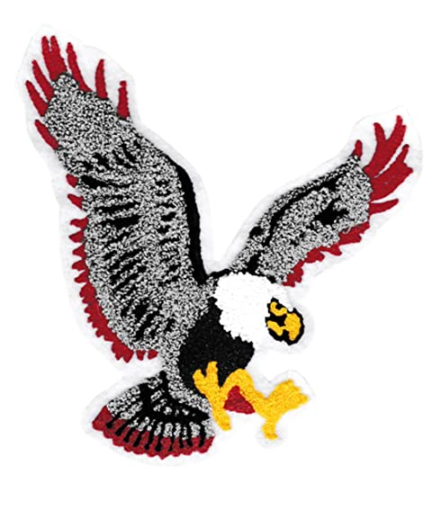 Amazon xxl extra large chenille flying eagle patch 20cm 100 xxl extra large chenille flying eagle patch 20cm 100 chenille custom patches childrens altavistaventures Gallery