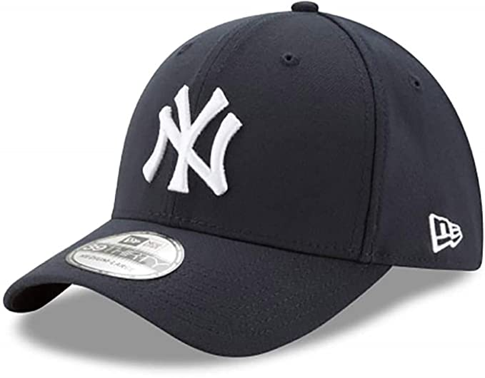 b5aea83a8a8326 Amazon.com : MLB New York Yankees Team Classic Game 39Thirty Stretch Fit Cap,  Blue, Large/X-Large : Clothing