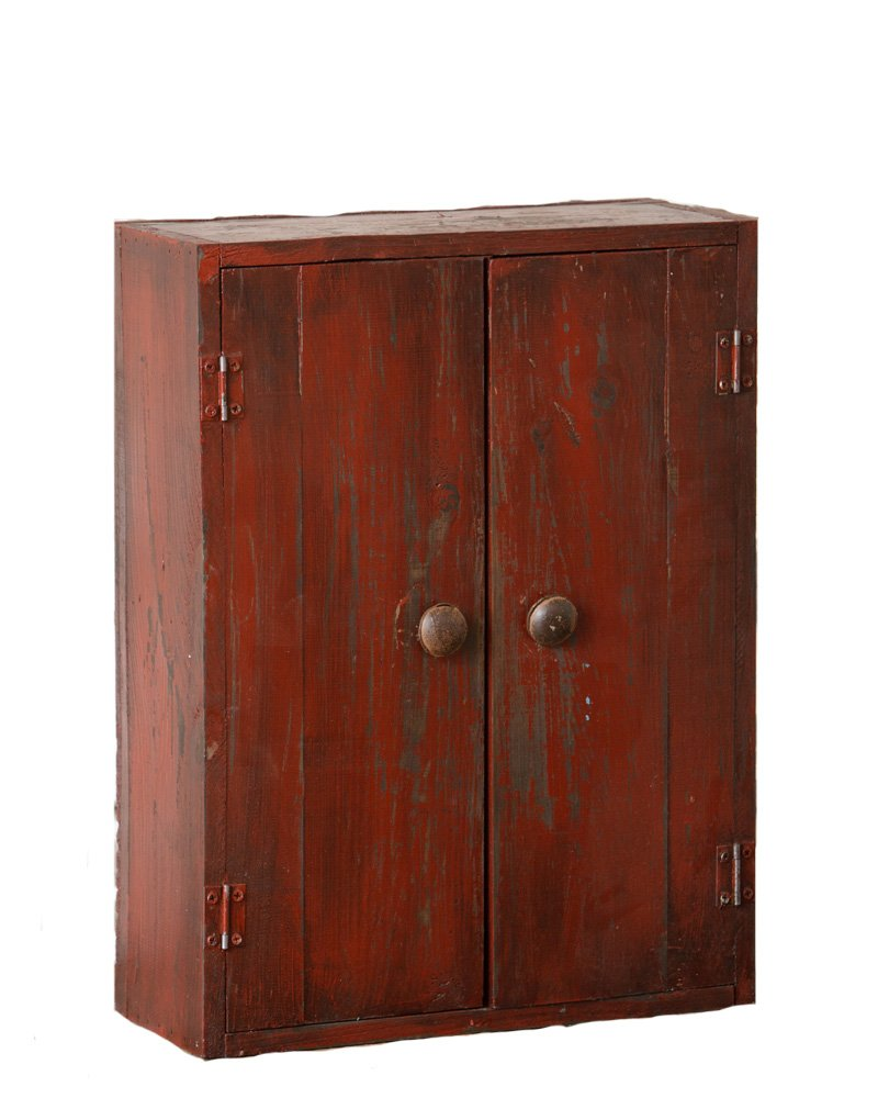 Your Heart's Delight Cabinet with 2 Doors and 1-Shelf, 14-1/2 by 19 by 5-1/2-Inch, Burgundy