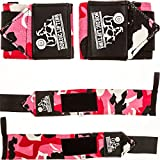 Wrist Wraps (1 Pair/2 Wraps) for Weightlifting/Cross Training/Powerlifting/Bodybuilding -Women & Men-Premium Quality Equipment & Accessories Avoid Injury in Weight Lifting-(Camo Red)-1 Year Warranty