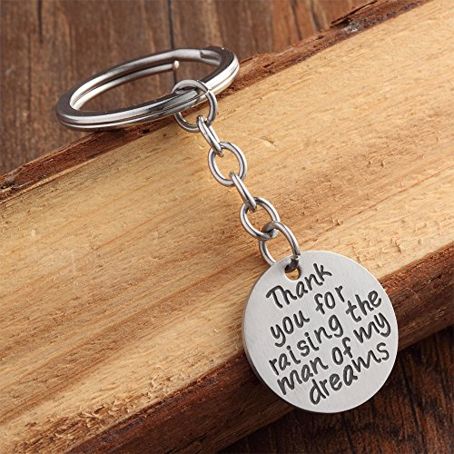 Wedding Gift Key Chain - Thank You for Raising the Man - for Groom Father/mother in Law Stainless Steel (Matte Stainless Steel) Photo #8