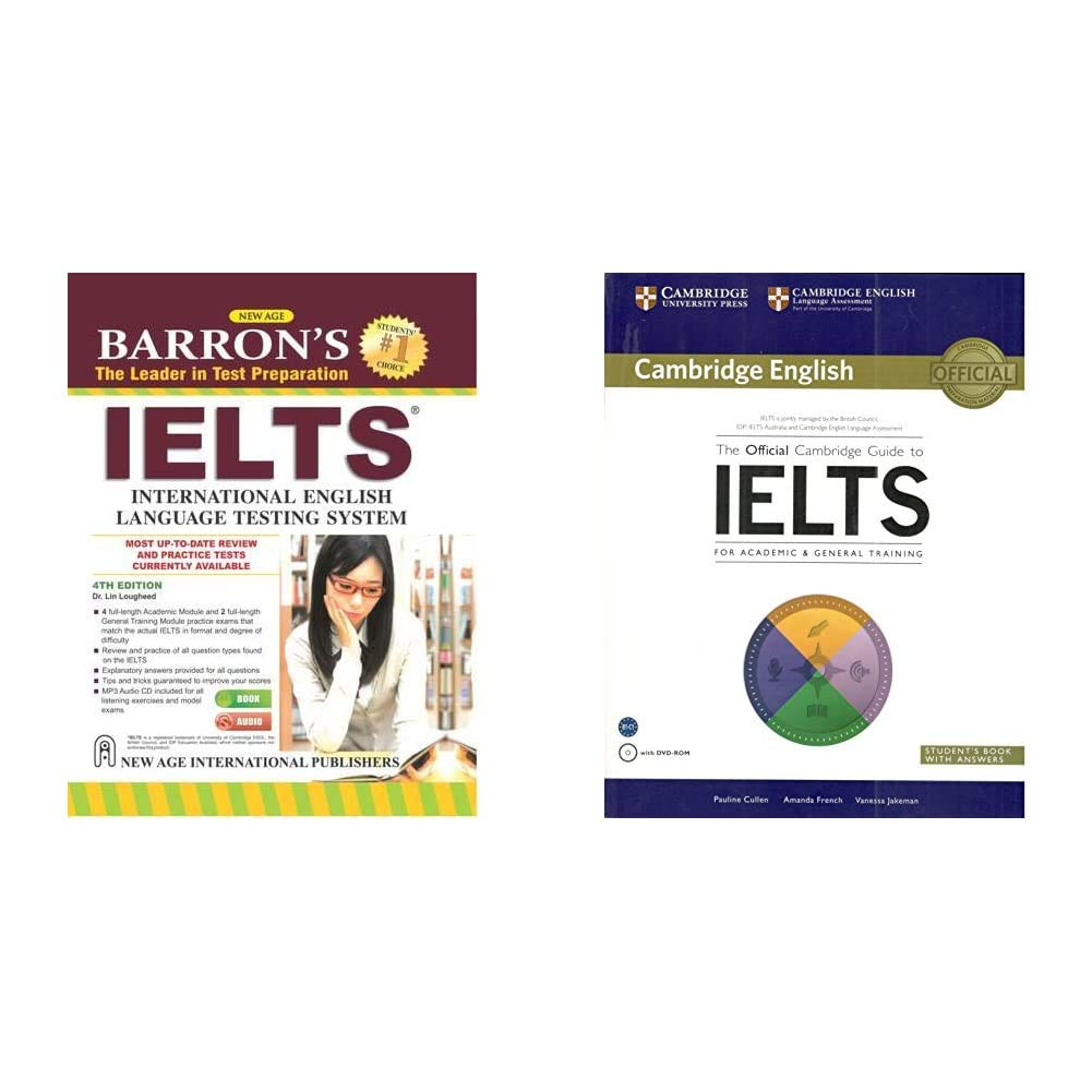Barron`s IELTS (With Audio CD)+The Official Cambridge Guide To Ielts Student's Book With Answers With Dvd Rom(Set of 2 books)