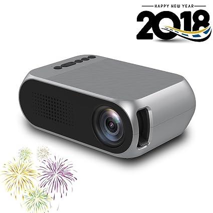 Amazon.com: Proyector de vídeo portátil, yg-320 Mini ...