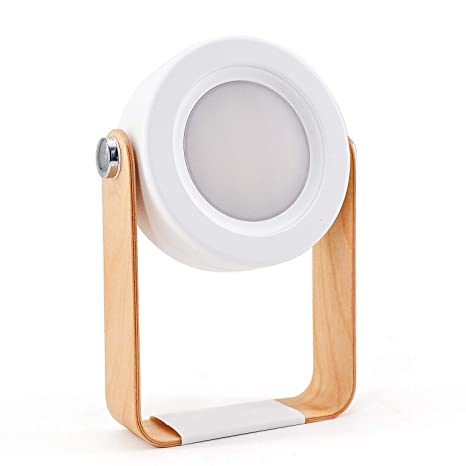 Mango de madera linterna portátil luz retráctil plegable LED ...