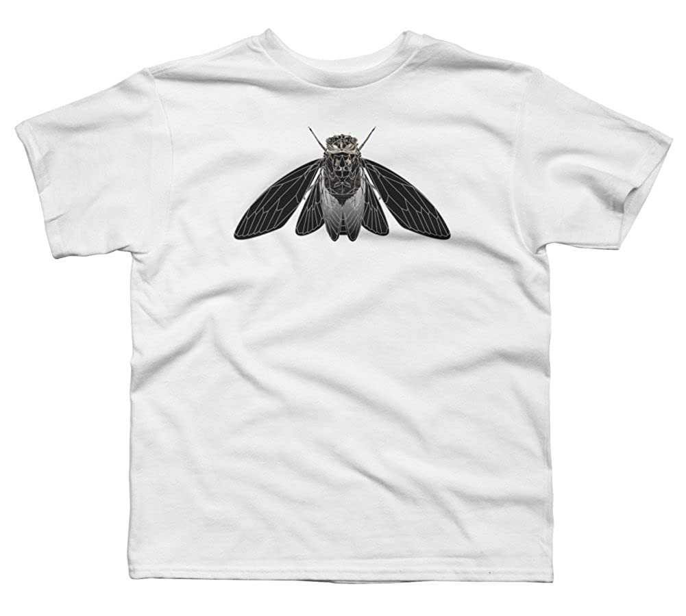 Design By Humans Monochrome Cicada Boys Youth Graphic T Shirt
