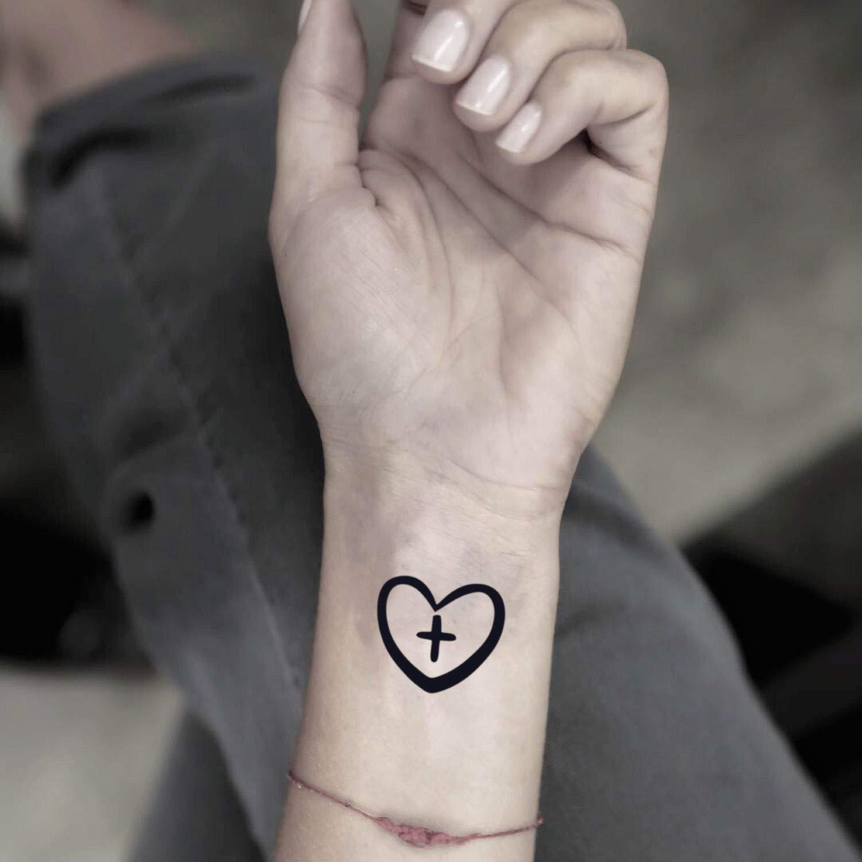 Tatuaje Temporal de Corazón cruzado (4 Piezas) - www.ohmytat.com ...