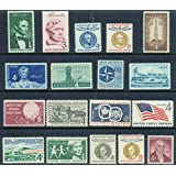complete set of US commemorative stamps issued in 1959 Mint NH Lincoln, Flag, San Martin, Oregon, more