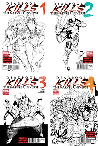 Deadpool Kills the Marvel Universe Complete 2nd Print Set - Bundle of Four Marvel Comics