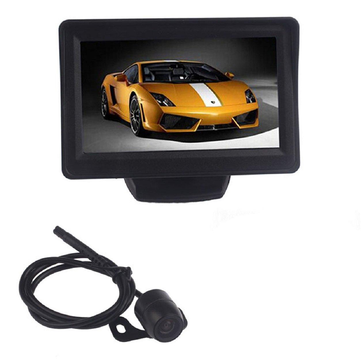 Malloom® Coche 4.3 Auto TFT LCD Monitor del espejo + marcha atrás vista