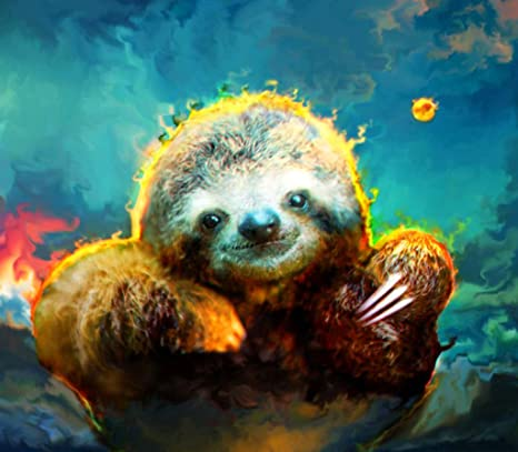 Sloth 2 Pack 5D DIY Diamond Painting for Adults with Full Drill,Crystal Rhinestone Diamond Embroidery Paintings Great for Home,Office,Wall Decor