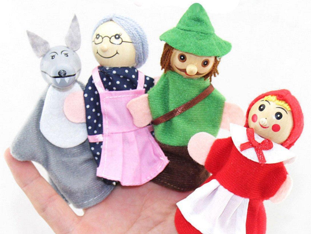 Giocattoli per Marionette da Dito Regalo del Capretto della Bambola della barretta di Little Red Story dei Bambini Rcdxing