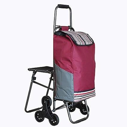 Carrito de compras Carro de compras plegable plegable de seis ruedas Carro de la compra Trolley