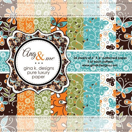 Gina K. Designs 6 X 6 Patterned Paper Pack - ANG and Me