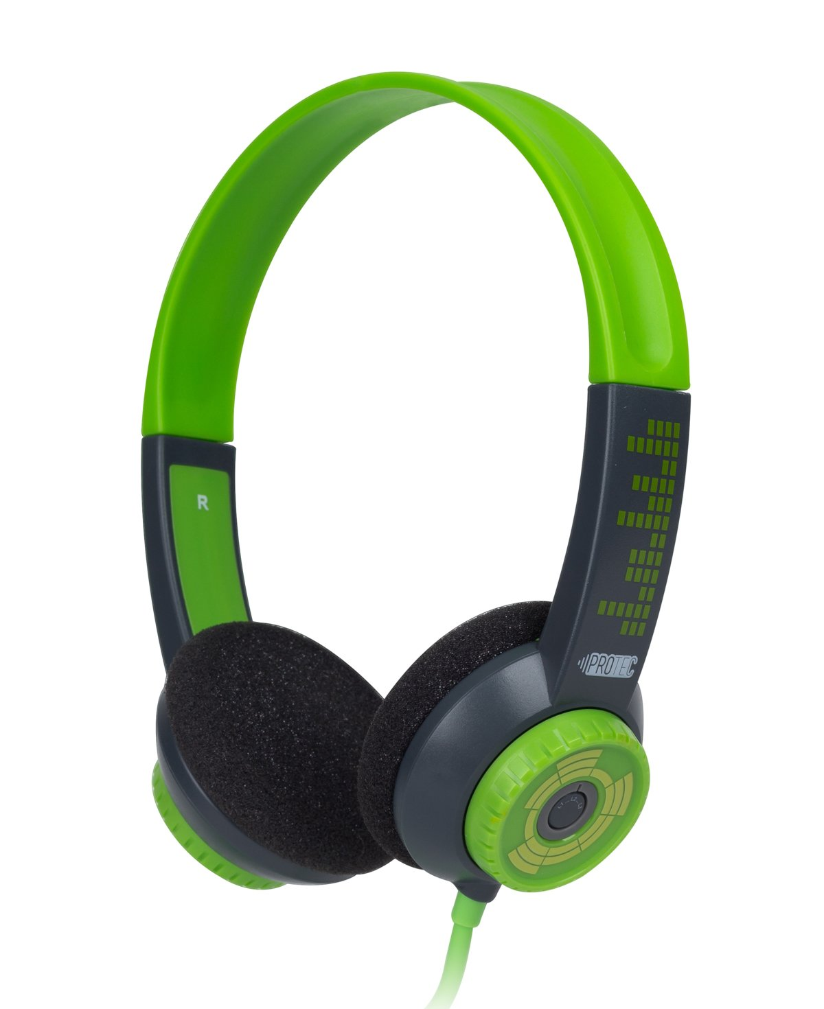 FSL Protec Kids Headphones with Adjustable Volume Limiting (Green)