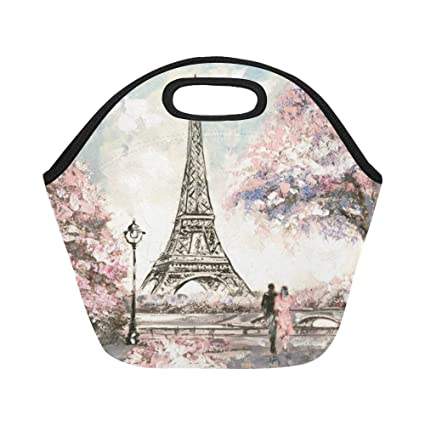 14a904ee3c24 Amazon.com - InterestPrint Neoprene Lunch Bag Unique Design Oil ...