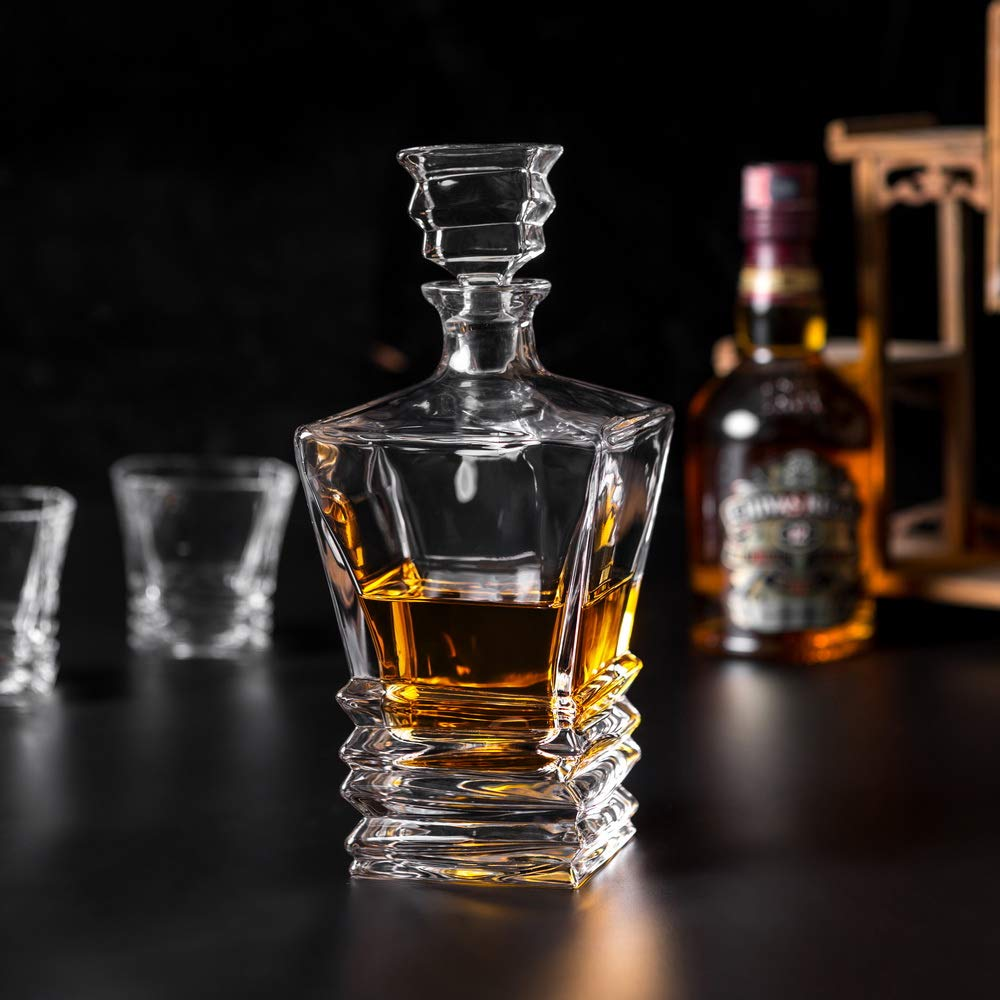 KANARS Crystal Whiskey Decanter And Glass Set With Luxury Gift Box - The Original Liquor Decanter Set For Scotch, Bourbon, Irish Whisky And Godmother Cocktail, 5-Piece by KANARS (Image #8)