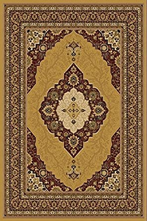 Amazon.com: Gold 6X8 Traditional Persian Style Area Rug