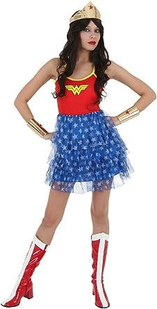 Bio mundo para mujer Wonder Woman disfraz de Halloween vestido de ...