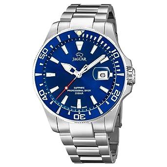 Reloj Jaguar Acamar J860/3 sumergible 200 m Esfera y bisel azules: Amazon.es: Relojes