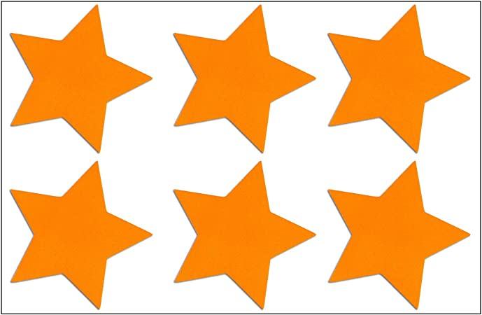 Reflektor Sterne Aufkleber Set 6 Reflektierende Sticker Je 4 5 X 4 5 Cm Orange Reflektierend Sport Freizeit