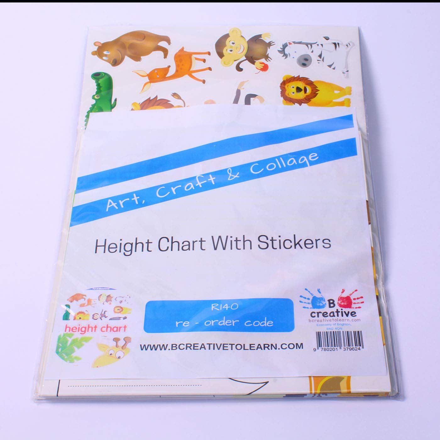 BCreativetolearn Childrens Height Chart with over 40 Stickers