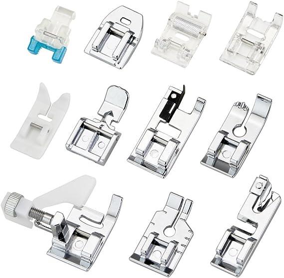 JTDEAL Kit Prensatelas, 11 Piezas Multifuncional Pie de Maquina de Coser, Aplicar a Algunos Modelos de Muchas Marcas(Alfa/Carrefour): Amazon.es: Hogar