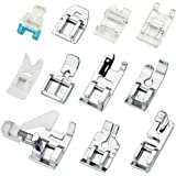 JTDEAL 11Pcs Presser Feet, Sewing Machine Kit Presser Feet Spare Parts Accessories for Sewing Machine Brother Singer Janome Toyota
