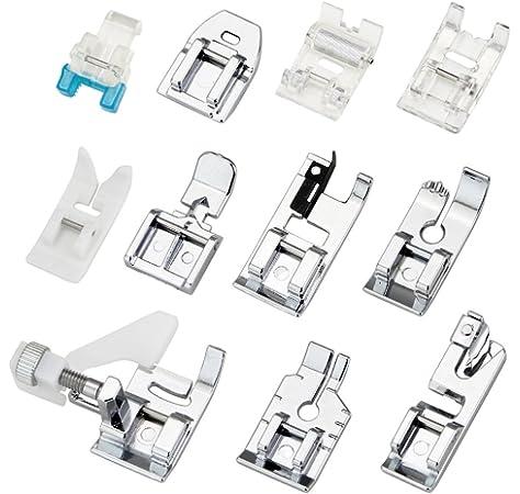 Alfa Prensatelas para cremalleras, accesorio para máquina de coser, acero inoxidable: Amazon.es: Hogar